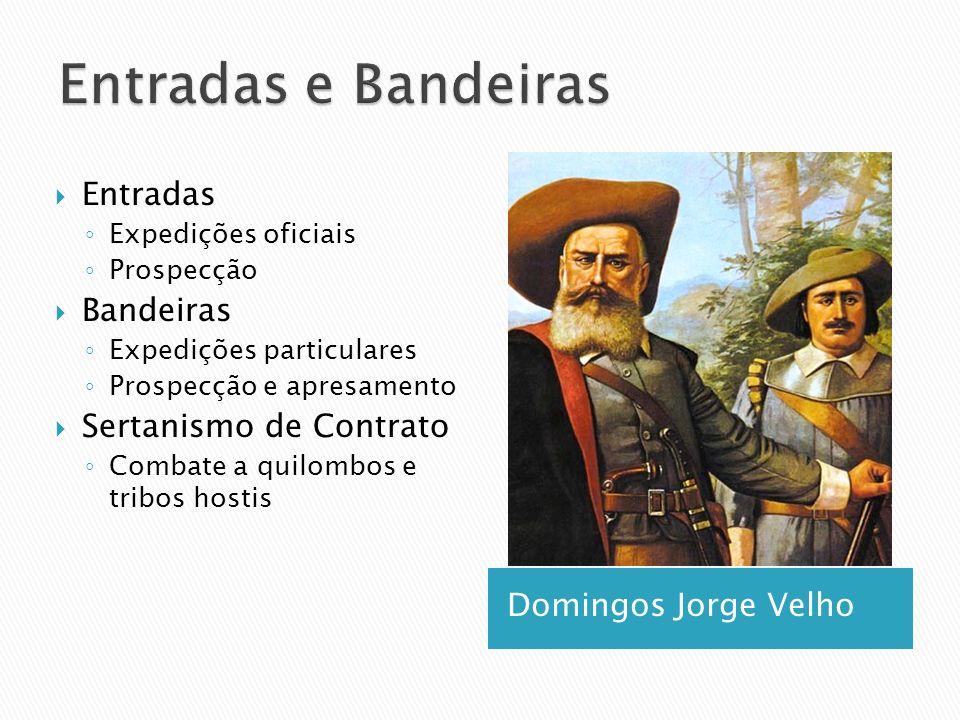 Entradas e Bandeiras Entradas Bandeiras Sertanismo de Contrato