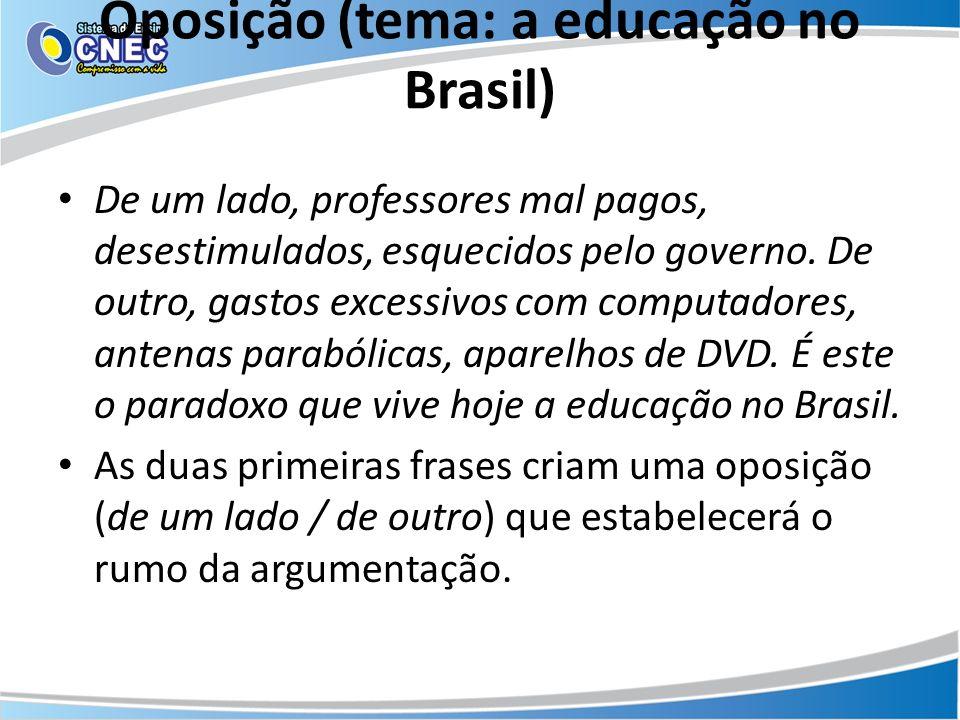 Oposição (tema: a educação no Brasil)