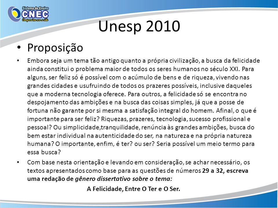 Unesp 2010 Proposição.