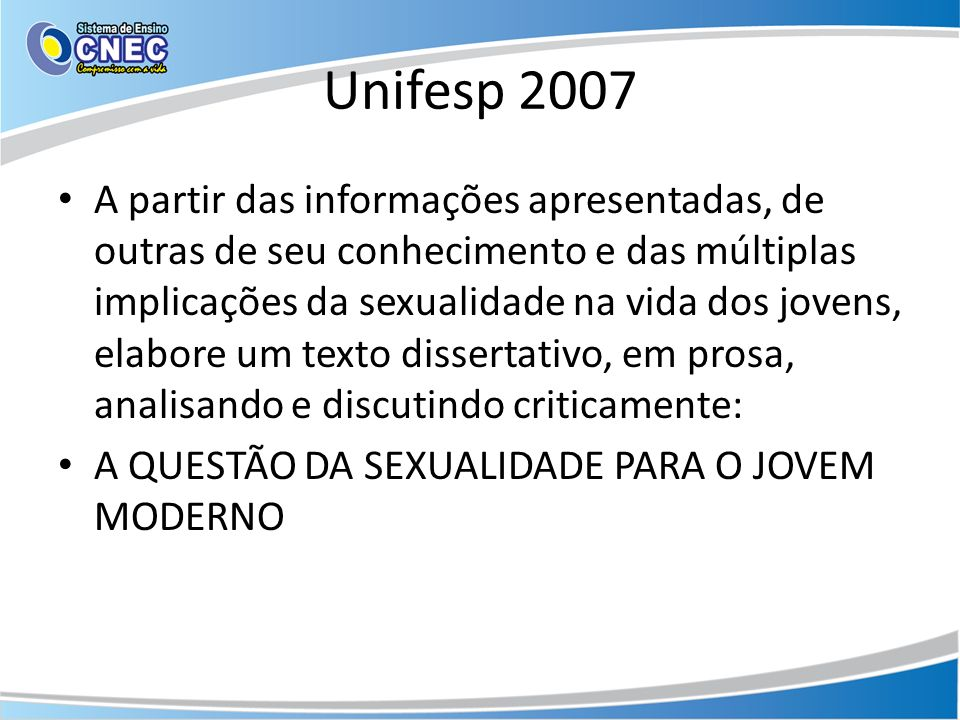 Unifesp 2007