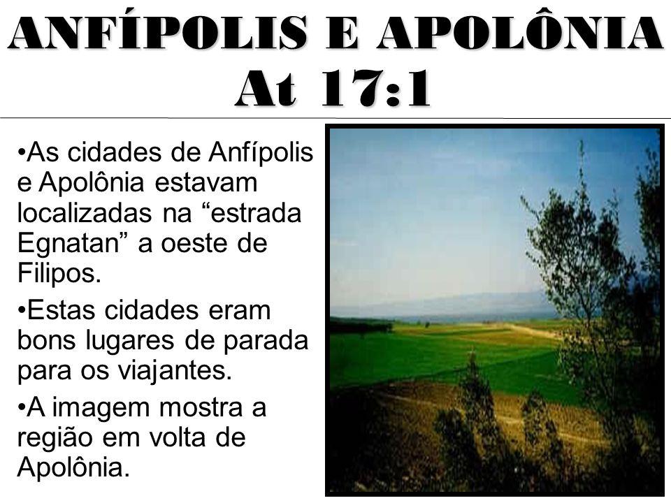 At 17:1 ANFÍPOLIS E APOLÔNIA