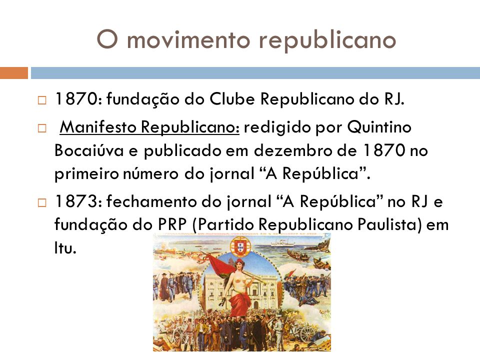O movimento republicano