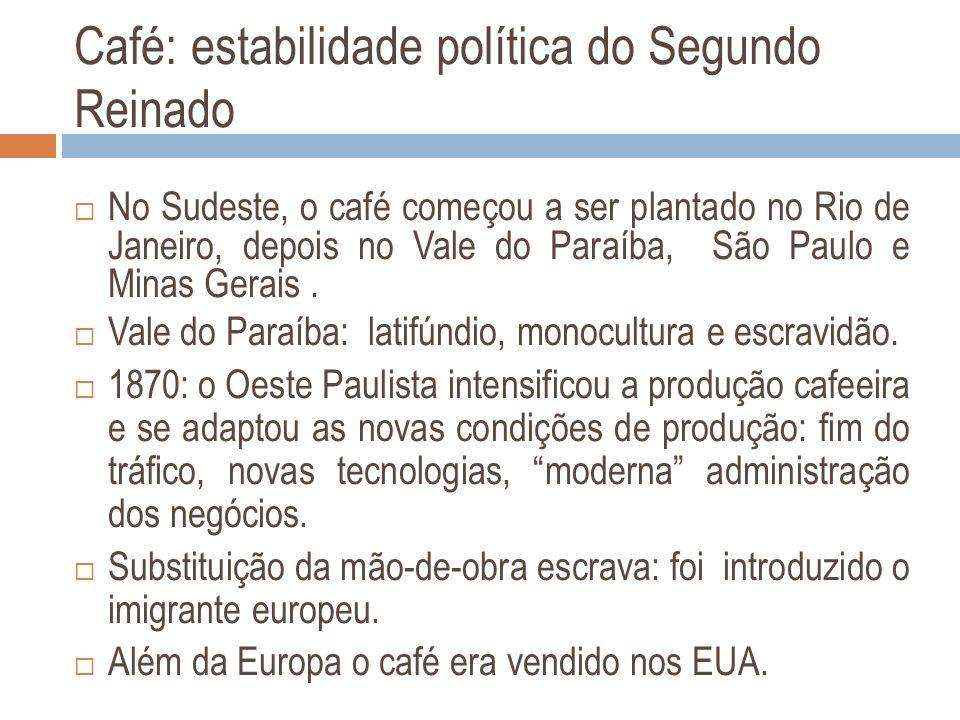 Café: estabilidade política do Segundo Reinado