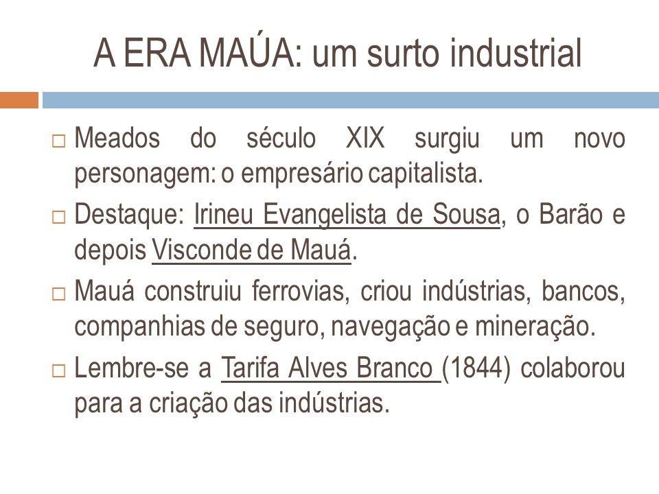 A ERA MAÚA: um surto industrial