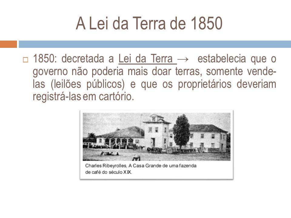 A Lei da Terra de 1850