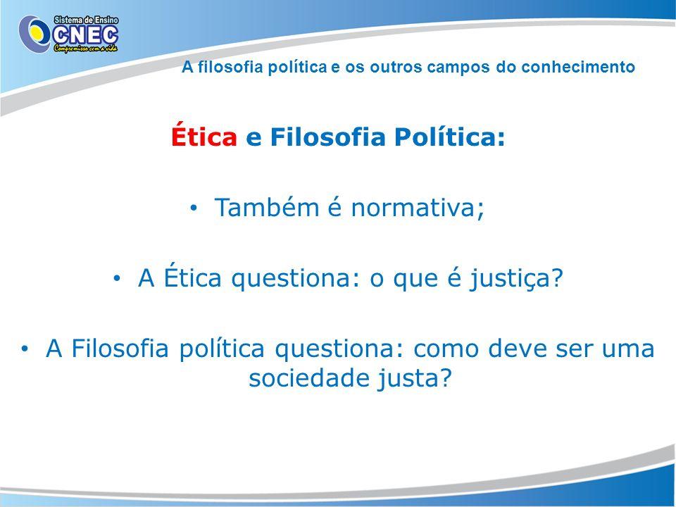 A filosofia política e os outros campos do conhecimento