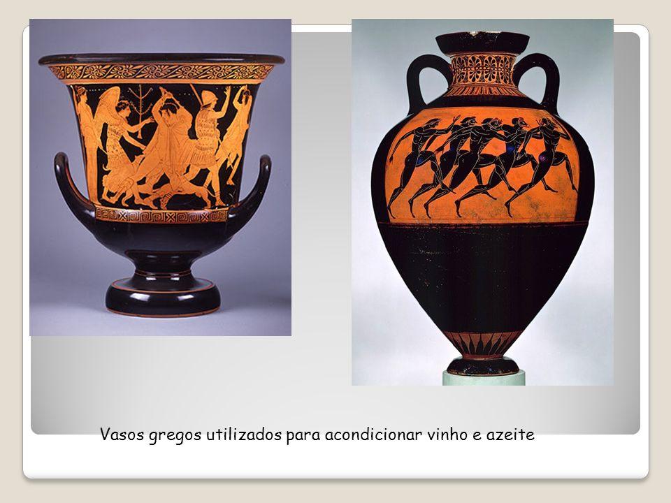 Vasos gregos utilizados para acondicionar vinho e azeite