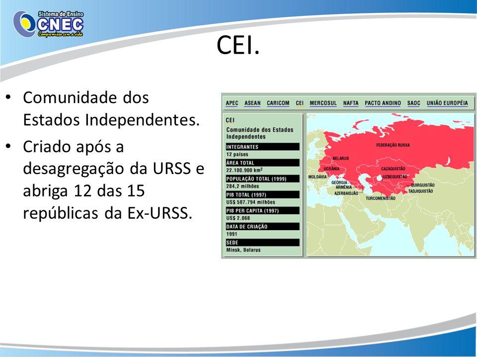 CEI. Comunidade dos Estados Independentes.