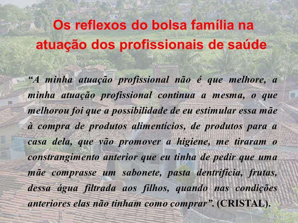 Os reflexos do bolsa família na atuação dos profissionais de saúde