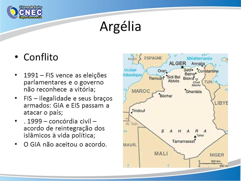 Argélia Conflito. 1991 – FIS vence as eleições parlamentares e o governo não reconhece a vitória;