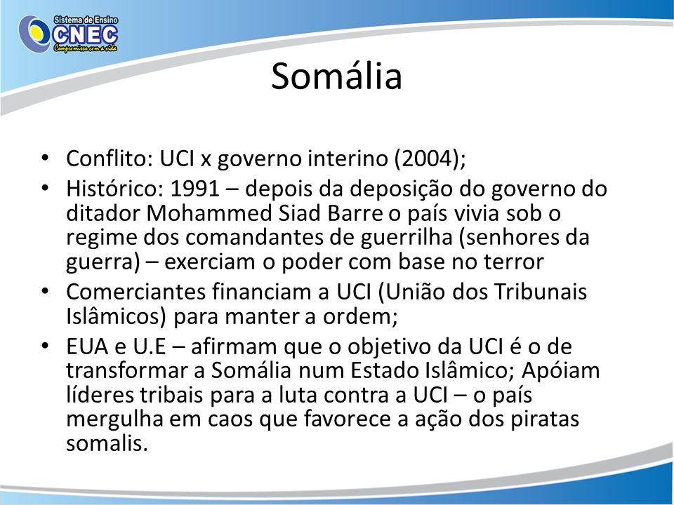 Somália Conflito: UCI x governo interino (2004);