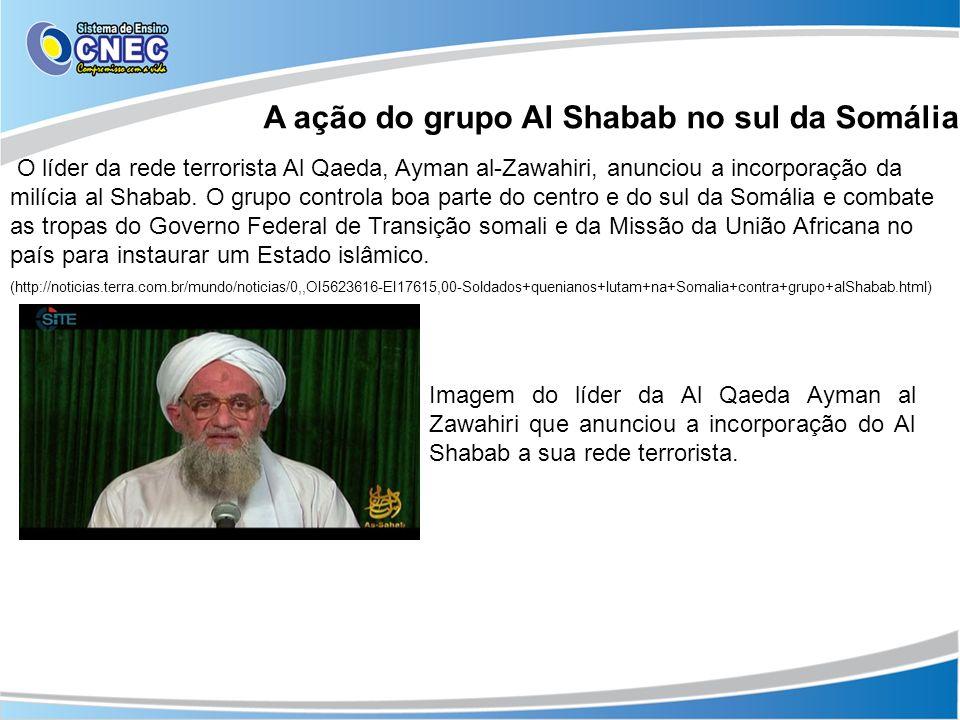 A ação do grupo Al Shabab no sul da Somália