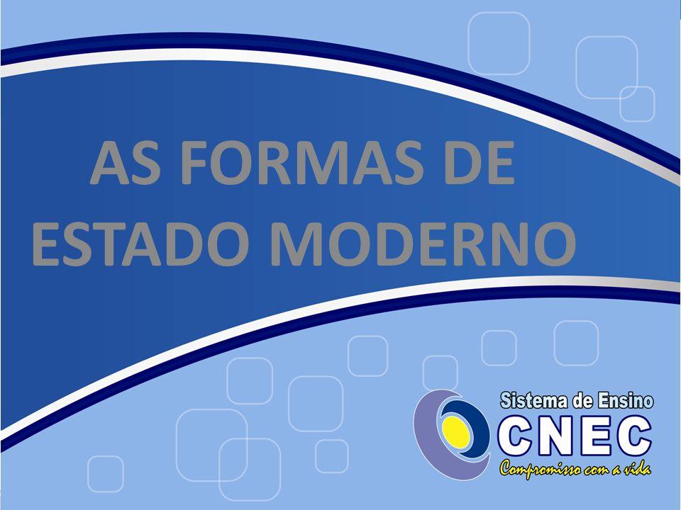 AS FORMAS DE ESTADO MODERNO