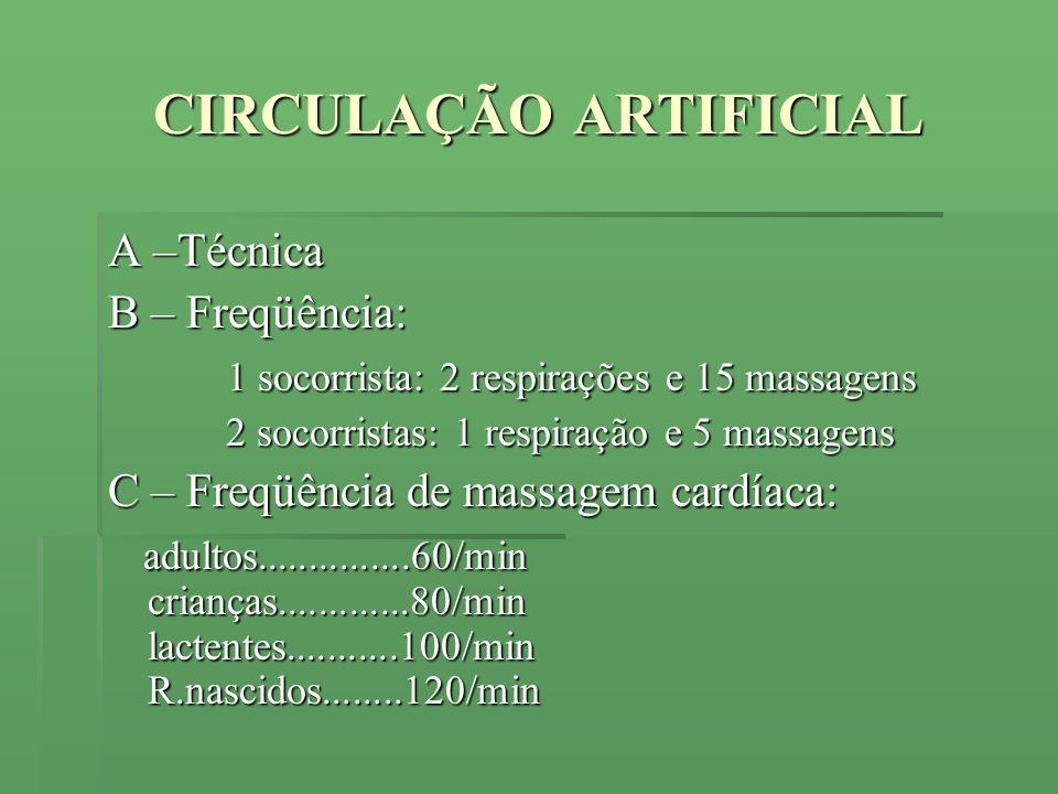 CIRCULAÇÃO ARTIFICIAL