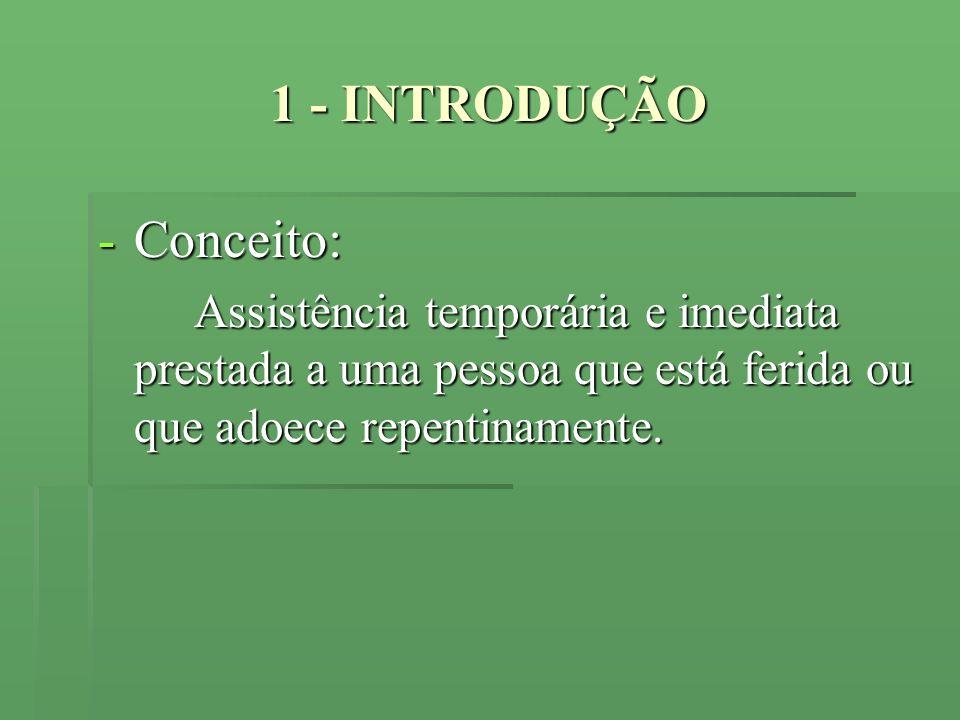 1 - INTRODUÇÃO Conceito: