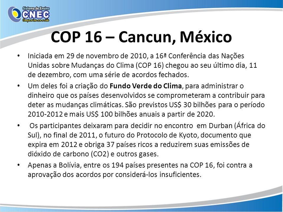 COP 16 – Cancun, México