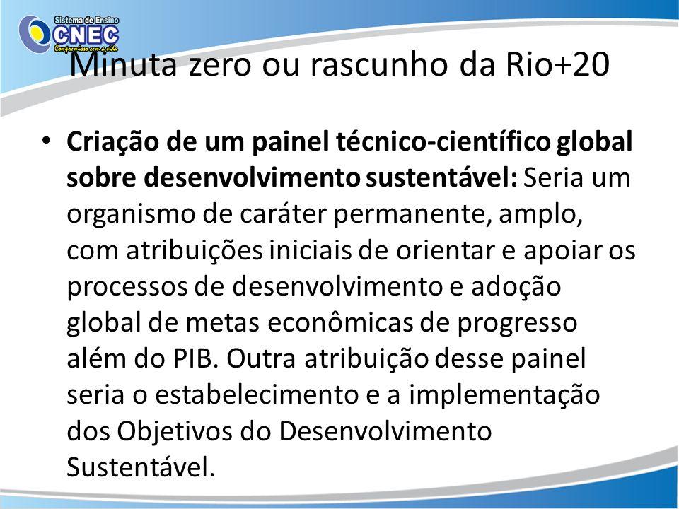 Minuta zero ou rascunho da Rio+20