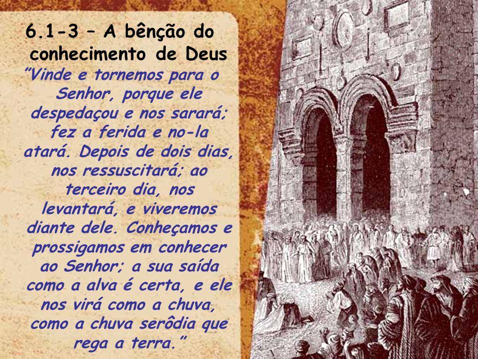 6.1-3 – A bênção do conhecimento de Deus