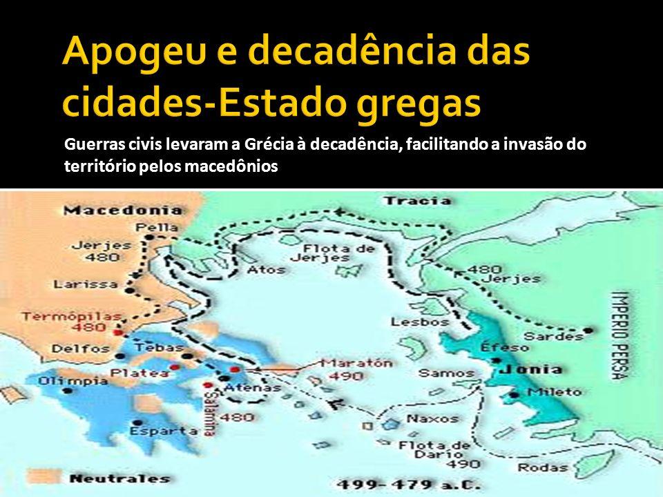 Apogeu e decadência das cidades-Estado gregas