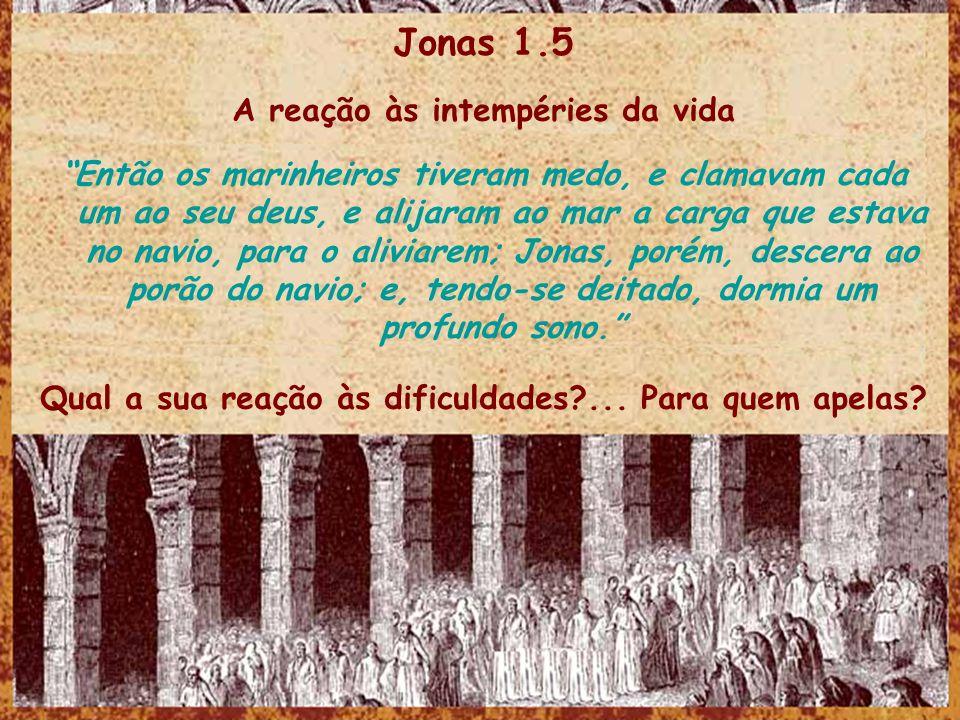 Jonas 1.5 A reação às intempéries da vida