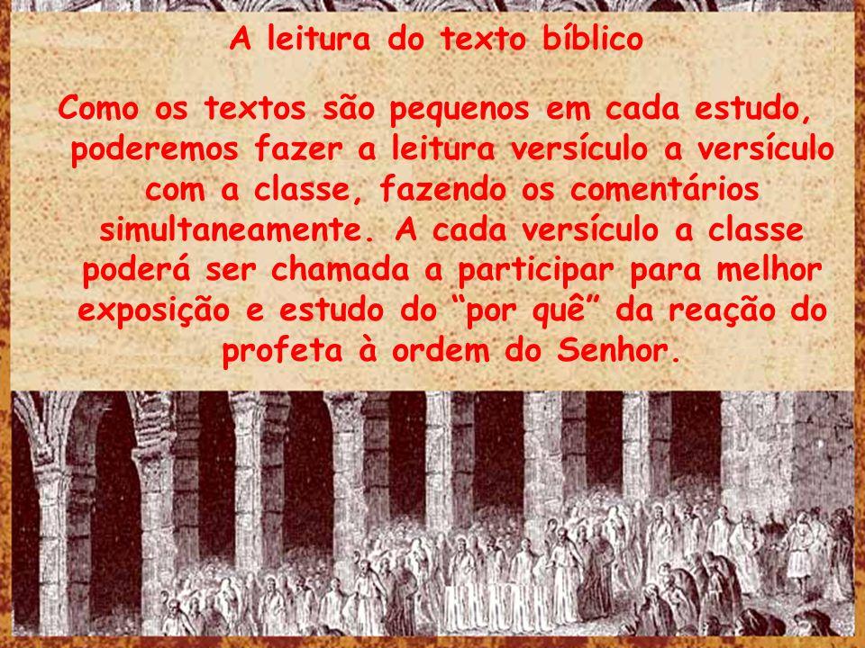 A leitura do texto bíblico