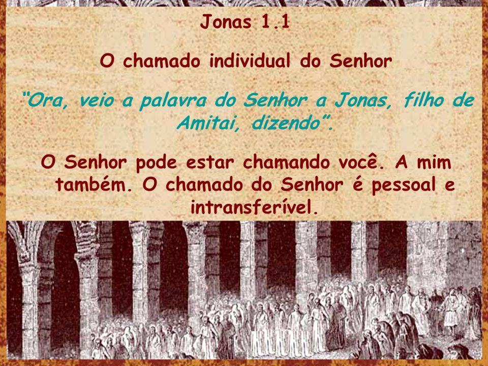 O chamado individual do Senhor