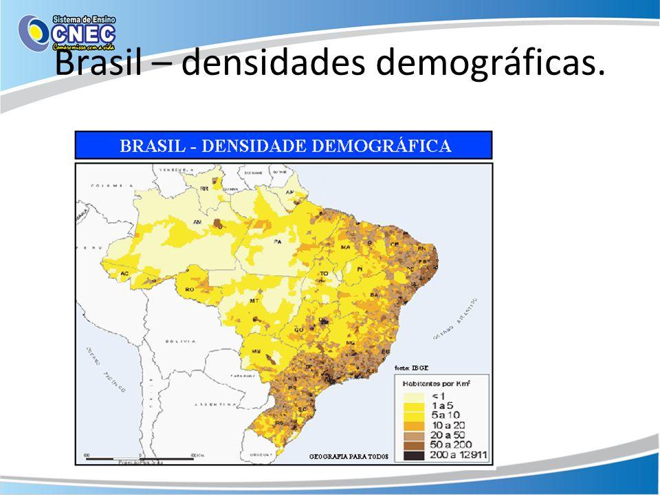 Brasil – densidades demográficas.
