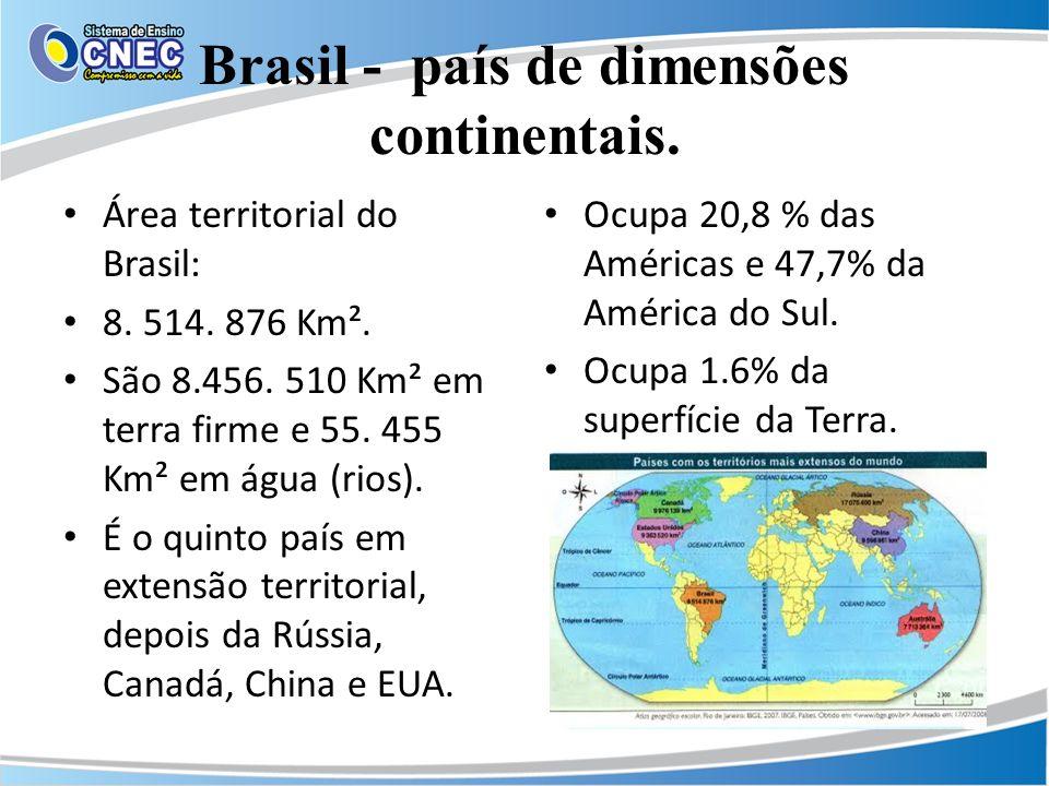 Brasil - país de dimensões continentais.