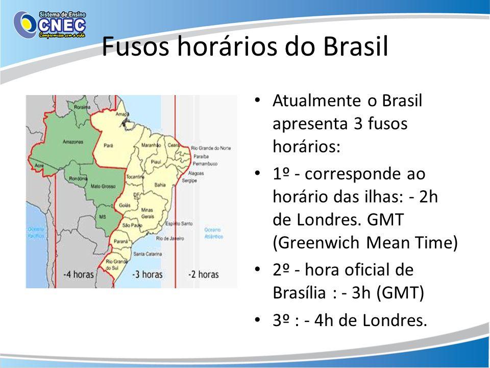 Fusos horários do Brasil