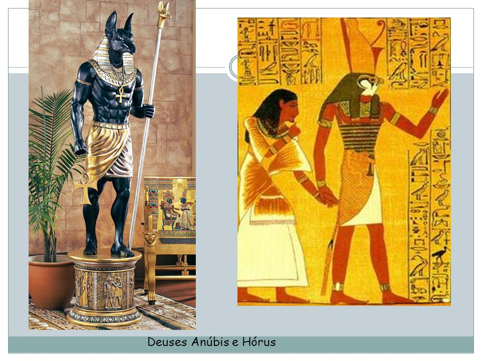 Deuses Anúbis e Hórus