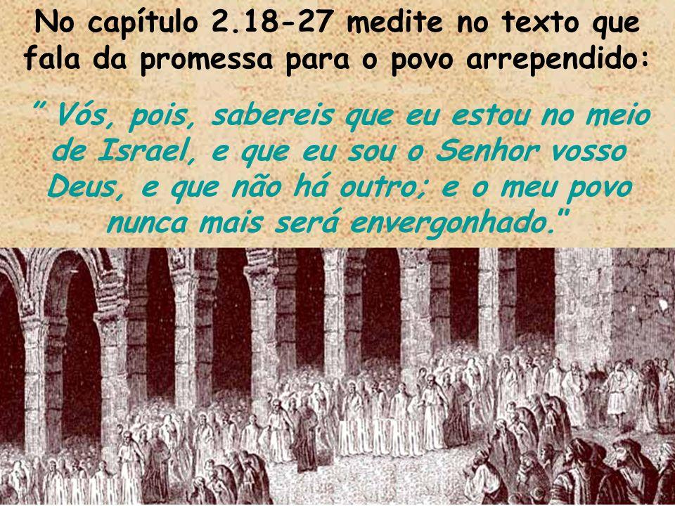 No capítulo 2.18-27 medite no texto que fala da promessa para o povo arrependido: