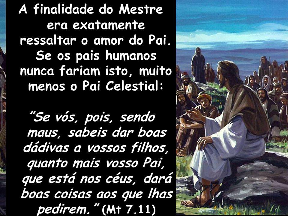 A finalidade do Mestre era exatamente ressaltar o amor do Pai