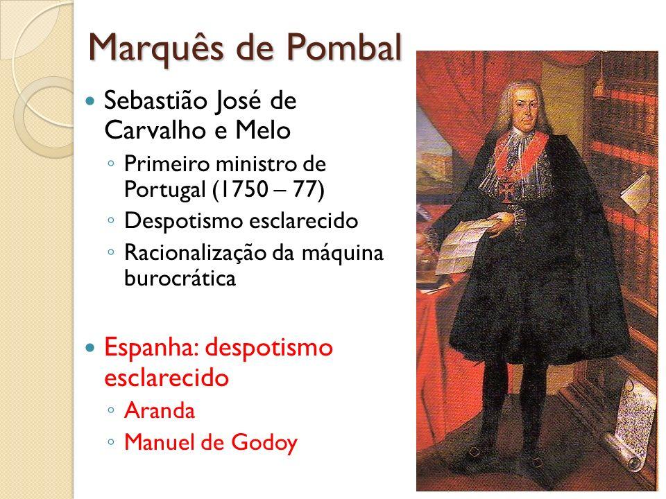 Marquês de Pombal Sebastião José de Carvalho e Melo