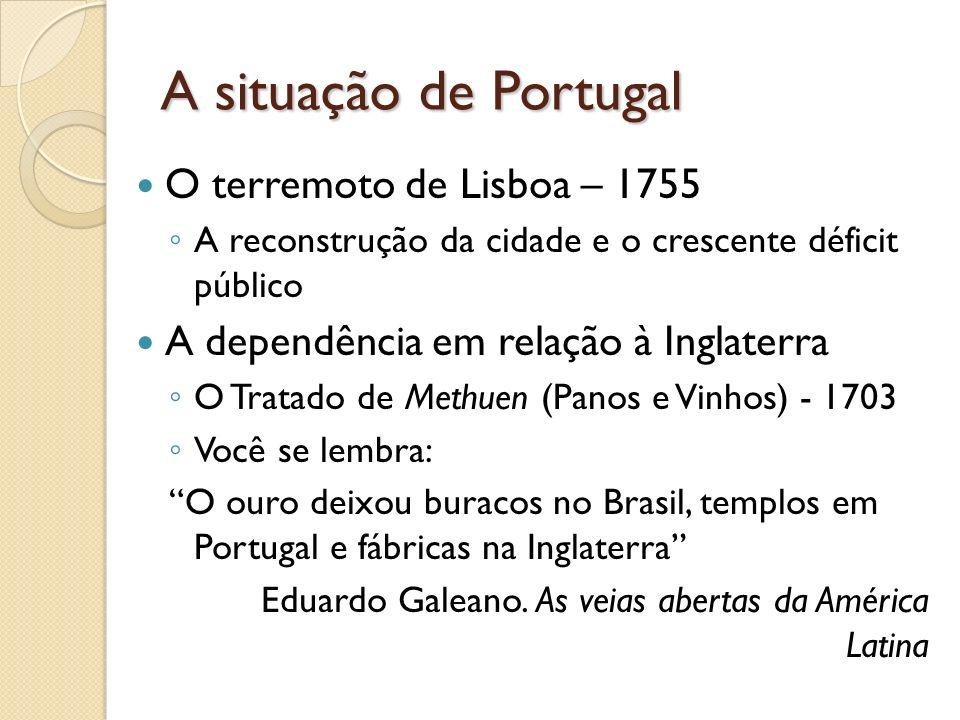 A situação de Portugal O terremoto de Lisboa – 1755