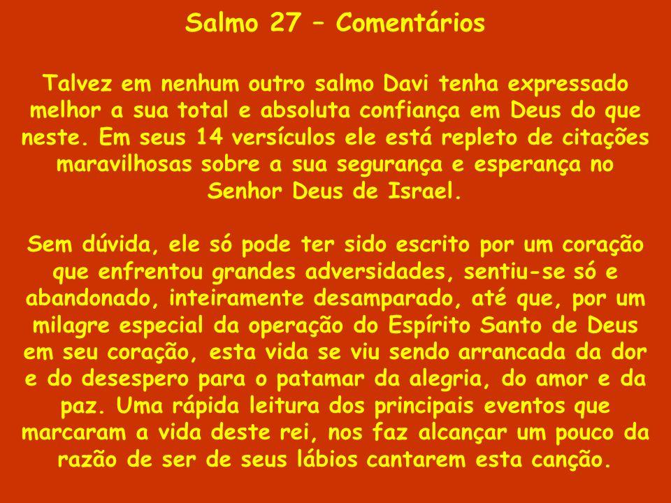 Salmo 27 – Comentários