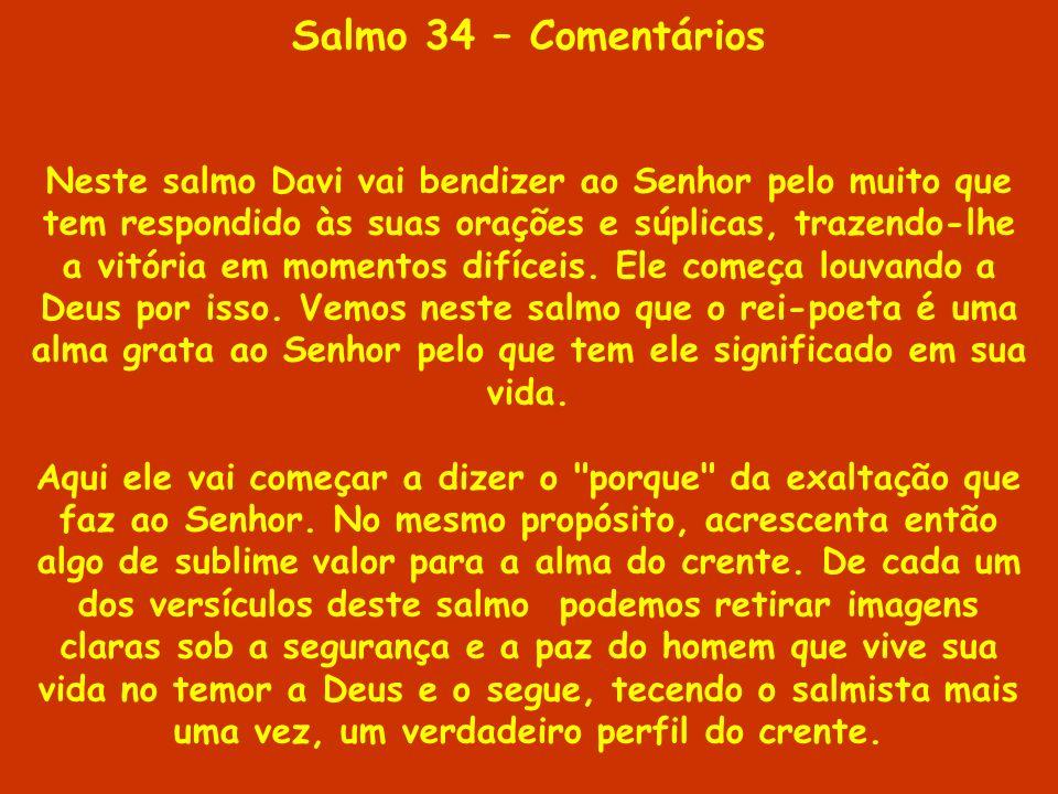 Salmo 34 – Comentários