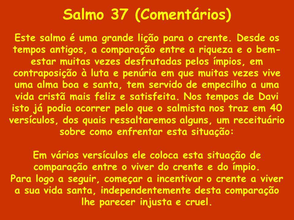 Salmo 37 (Comentários)