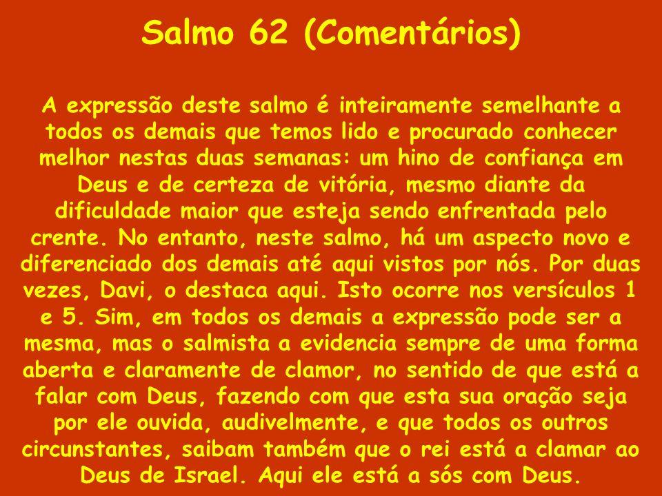 Salmo 62 (Comentários)