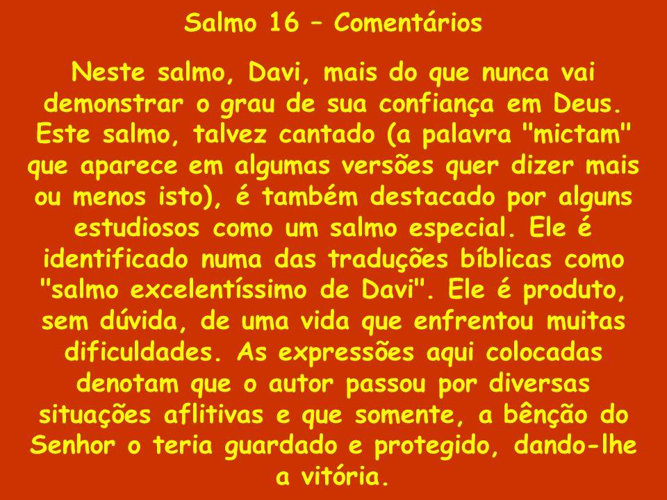 Salmo 16 – Comentários