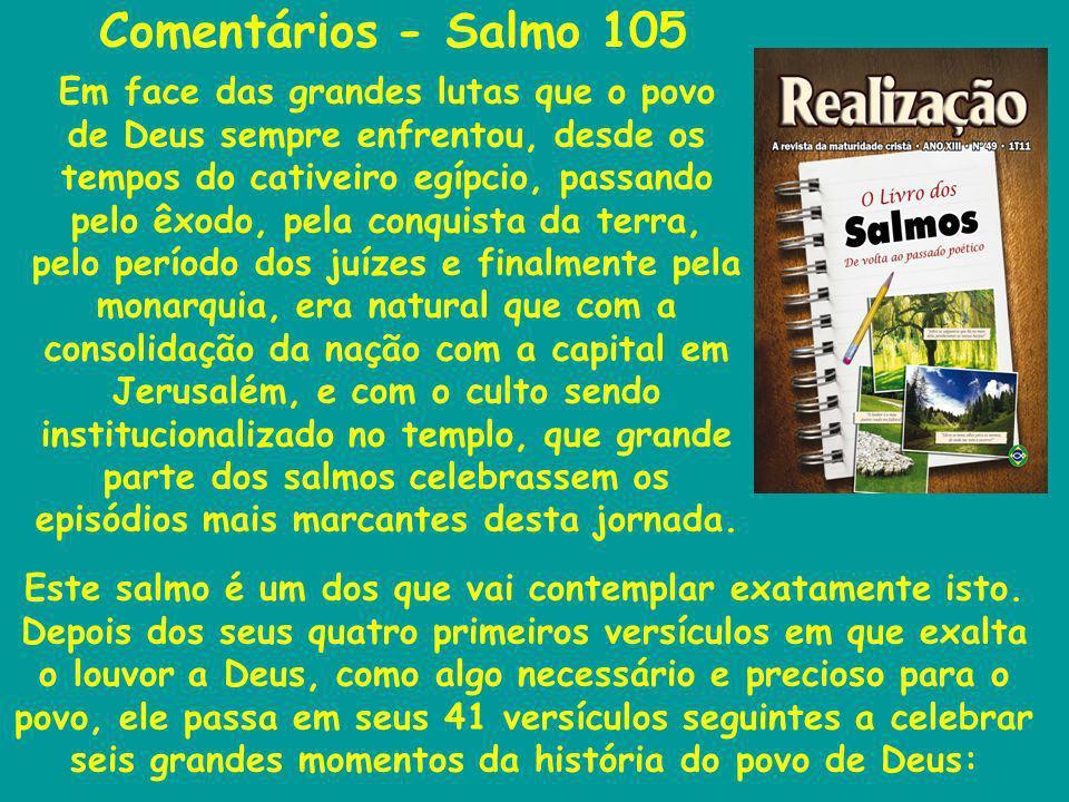 Comentários - Salmo 105