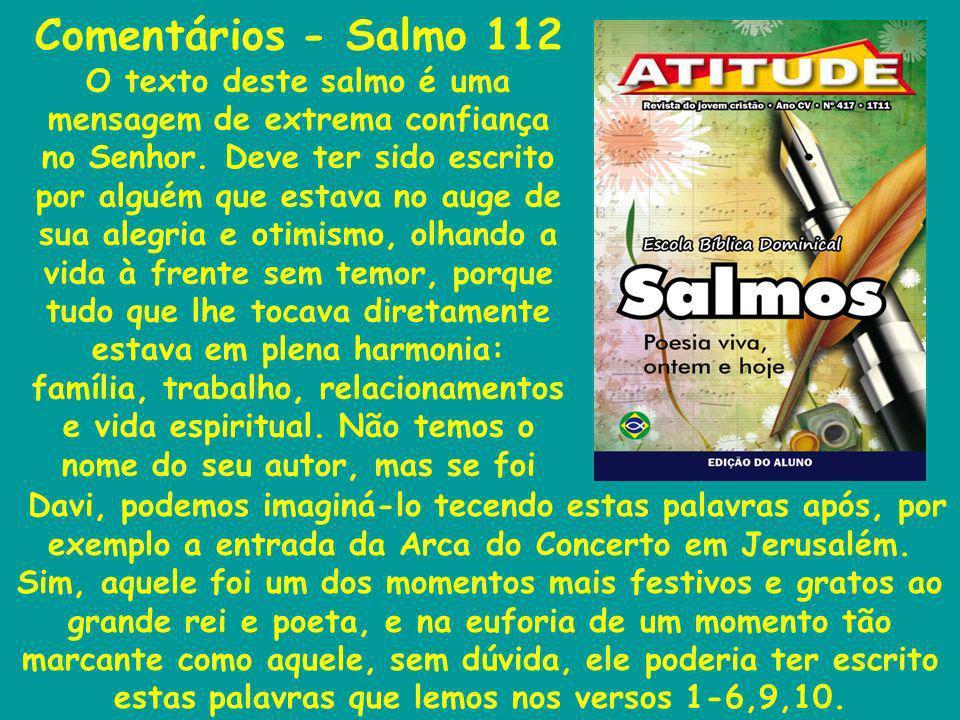Comentários - Salmo 112