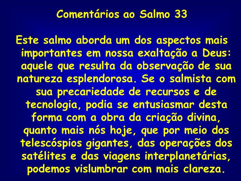 Comentários ao Salmo 33