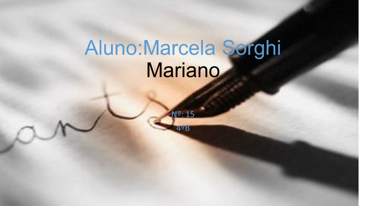 Aluno:Marcela Sorghi Mariano