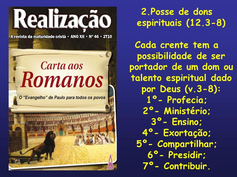 2.Posse de dons espirituais (12.3-8)