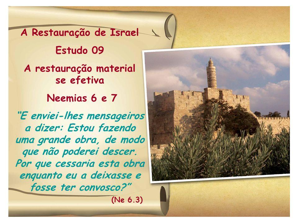 A Restauração de Israel A restauração material