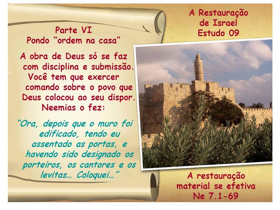 A obra de Deus só se faz com disciplina e submissão.