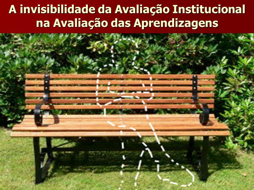 A invisibilidade da Avaliação Institucional na Avaliação das Aprendizagens