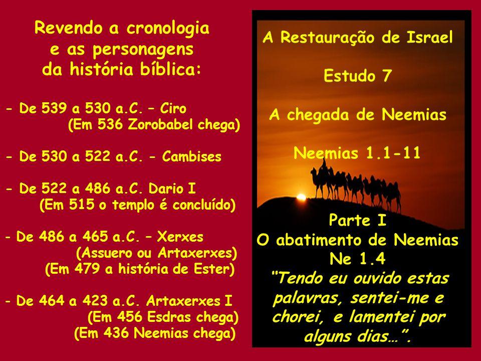 A Restauração de Israel O abatimento de Neemias
