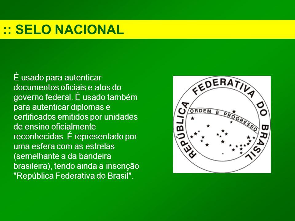 :: SELO NACIONAL