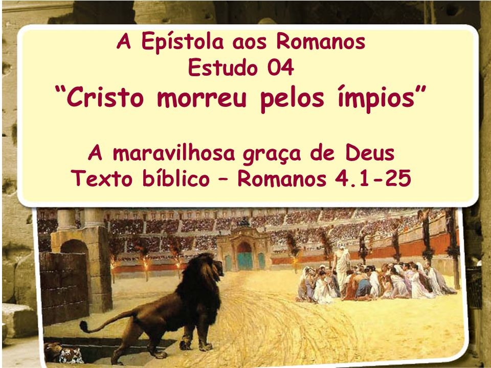 Cristo morreu pelos ímpios